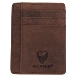 GERMANUS Ferruginus Credit Card Case - Made in EU - Leder Case for Cards