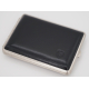 2nd Choice: GERMANUS Cigarette Case Metal with Leather Application - Made in Germany - Design Leather II