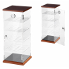 Transparent Cigar Humidor Cabinet '42 with Digital Hygrometer for ca 250 cigars