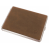 GERMANUS Cigarette Case for Unfiltered Cigarettes , Metal with Calf Leather Application - Made in Germany - Design Wild Bull