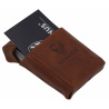 GERMANUS Business Card Case - Hand Made in EU, Leather brown