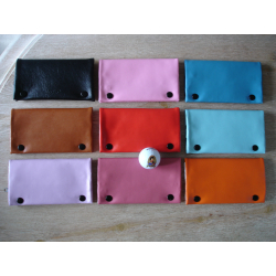Tabaktasche in bunten Farben - Rosa, Braun, Rot, Lila, Schwarz, Blau, Orange