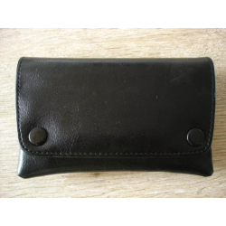Rubber Lined Tobacco Pouch - Style S, Black