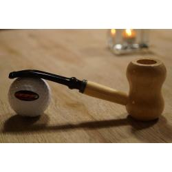 Original Missouri Qualitäts Corncob Holz Pfeife - Shape: Curl, Bent