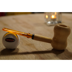Original Missouri Qualitäts Corncob Holz Pfeife - Shape: Curl, Billiard