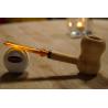 Original Missouri Qualitäts Corncob Holz Pfeife - Shape: Curl, Billiard