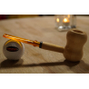 Original Missouri Quality Corncob Wood Pipe - Shape: Curl, Billiard