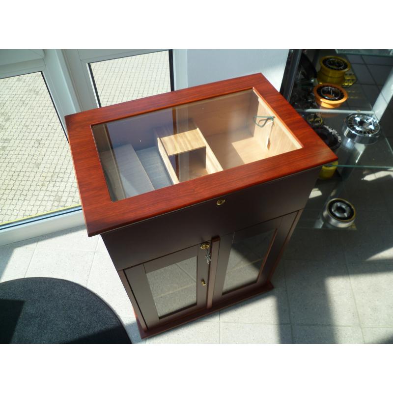 angelo zigarren schrank humidor f r ca 1000 zigarren mit germanus befeuchter. Black Bedroom Furniture Sets. Home Design Ideas