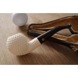 Meerschaum Pfeife - Golf Ball - Handarbeit und Unikat