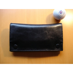 Rubber Lined Tobacco Pouch - Style 6, black