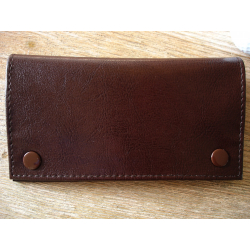 Rubber Lined Tobacco Pouch  - Style 7, brown