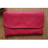 Leder Tabaktasche in Rosa Pink
