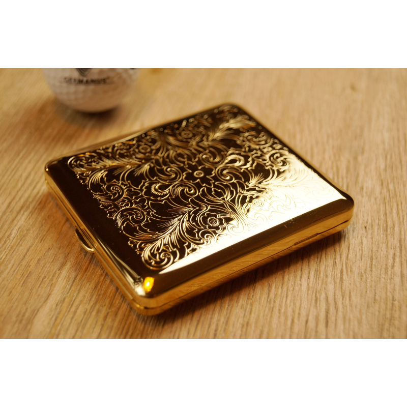 germanus cigarette case with genuine gold made in germany design v persian venetian