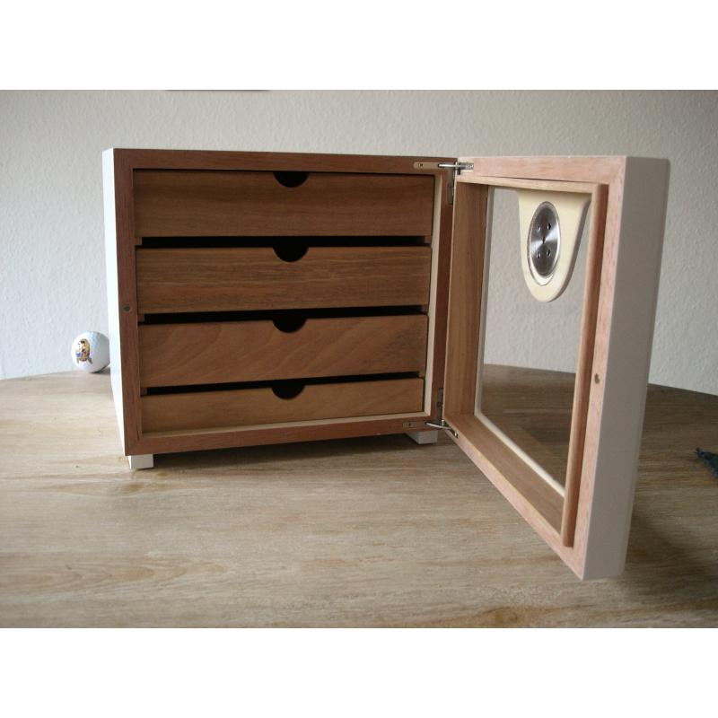 kleiner zigarren humidor schrank w rfel classic tabak. Black Bedroom Furniture Sets. Home Design Ideas