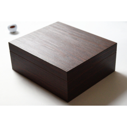 GERMANUS Cigar Humidor for ca. 50 cigars, dark brown