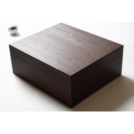 GERMANUS Zigarren Humidor für ca. 50 Zigarren, dunkelbraun