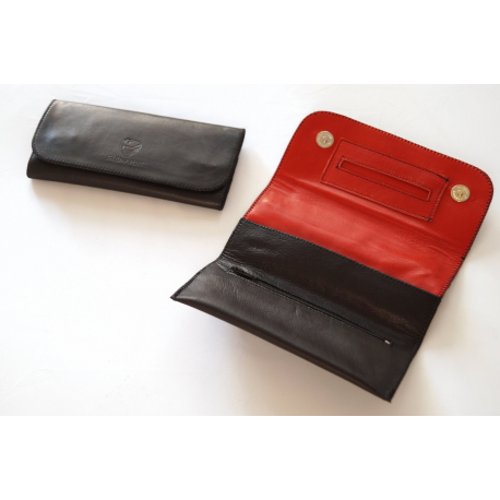 GERMANUS Tobacco Pouch - 4 - Black outside, Red inside