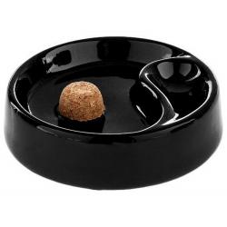 Pfeifenaschenbecher schwarz glänzend - V