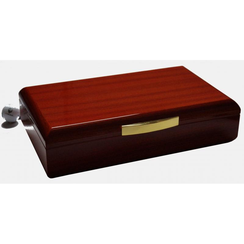 germanus licca zigarren humidor mit digital hygrometer und metall befeuchter f r ca 100. Black Bedroom Furniture Sets. Home Design Ideas