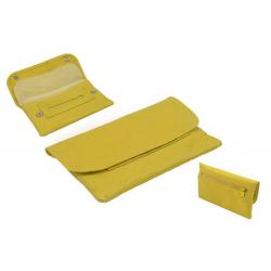 Leder Tabaktasche in Gelb