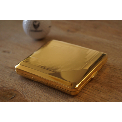 Cigarette Case with Genuine Gold - Made in Germany - Design A