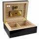 """OEM : GERMANUS """"Prandium"""" Cigar Humidor with metal inlays and Digital Hygrometer for ca 100 cigars"""