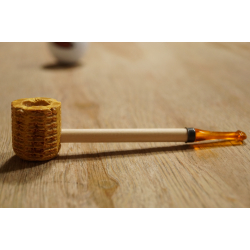 Original Missouri Quality Corncob Pipe - Shape: Boatman Smooth, Billiard