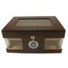 Humidor Chest with Windows on Side Brown