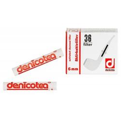 Corncob Filter - Deutsche Denicotea Pfeifenfilter - 6 mm - 36 Stück