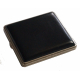 GERMANUS Cigarette Case Metal with Leather Application - Made in Germany - Design Leather 1
