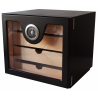 GERMANUS Cigar Humidor Cabinet: Cube basic, Black