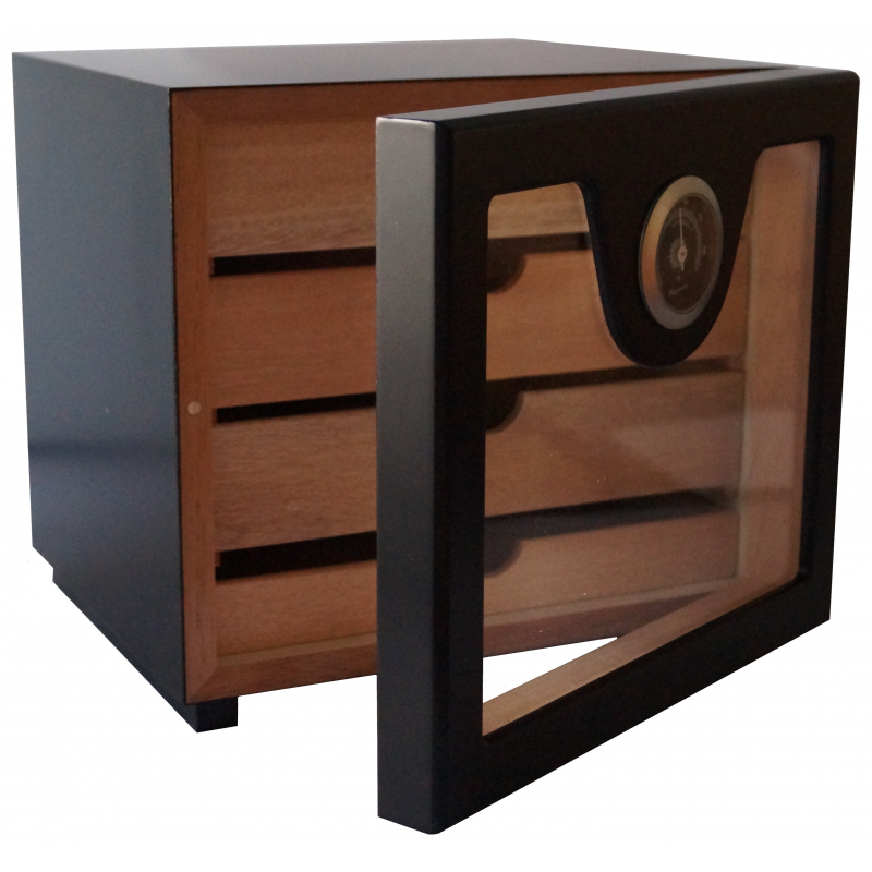 germanus zigarren humidor schrank w rfel basis ii schwarz germanus. Black Bedroom Furniture Sets. Home Design Ideas