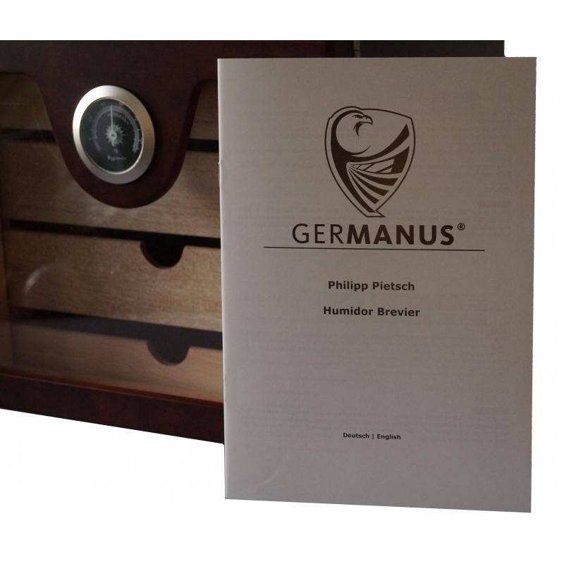 GERMANUS Zigarren Humidor Schrank Basis Braun