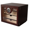 GERMANUS Cigar Humidor Cabinet: Cube basic, Brown