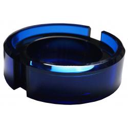 GERMANUS Solid Crystal Glass Cigar Ashtray , Blue