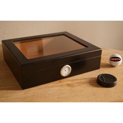 Mensalla Humidor für Zigarren - schwarz
