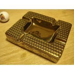 ANGELO Aschenbecher für Zigarren aus Porzellan - Leo, Gold