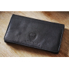 2nd Choice - GERMANUS Premium Calf Skin Leather Tobacco Pouch, Black II