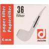 Corncob Filter - German Denicotea Pipefilter Paper - 6 mm - 36 pieces