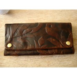 Kavatza Tobacco Pouch Lady brown leather