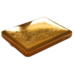 GERMANUS Cigarette Case with Genuine Gold - 100mm - Made in Germany - Design V - Persian / Venetian Engraving
