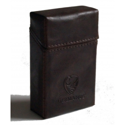 GERMANUS Packungsetui für Zigaretten - Lederfrei - Brunneae
