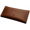 GERMANUS Tobacco Pouch - Leather Free, vegan, vegetarian - Made in EU - Fuscus, brown