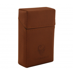 GERMANUS Cigarette Packaging Box - Leather - Made in EU - Aquilus