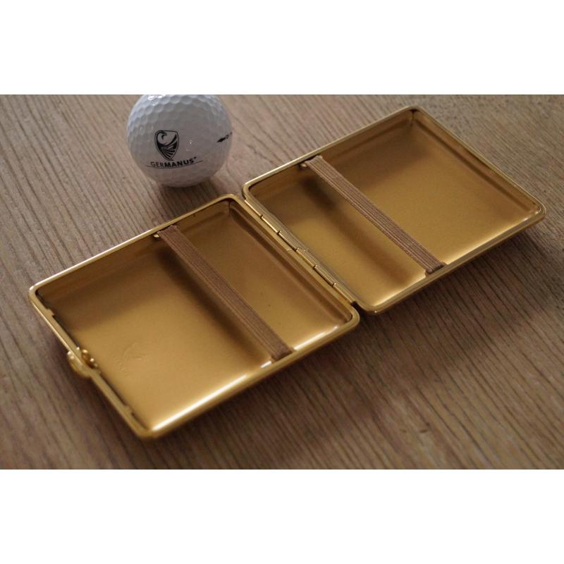 zweite wahl germanuszigarettenetui metall mit leder. Black Bedroom Furniture Sets. Home Design Ideas