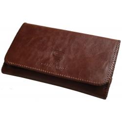 GERMANUS Tobacco Pouch - Leather Free, vegan, vegetarian - Made in EU - Pocket Atrobrunus, brown