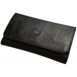 GERMANUS Tobacco Pouch - Leather Free, vegan, vegetarian - Made in EU - Pocket Mavros, black