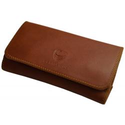 GERMANUS Tobacco Pouch - Leather Free, vegan, vegetarian - Made in EU - Pocket Fuscus, braun