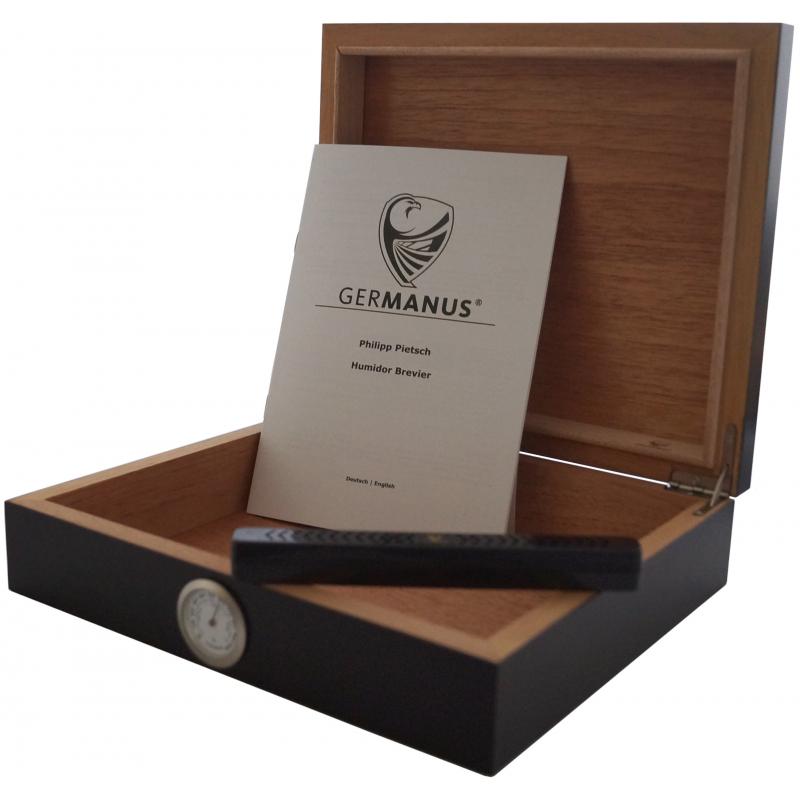 germanus humidor f r zigarren movella einsteiger humidor in schwarz. Black Bedroom Furniture Sets. Home Design Ideas