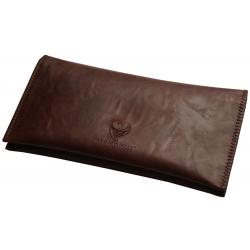 GERMANUS Tobacco Pouch - Leather Free, vegan, vegetarian - Made in EU - Pocket Skobrunus, brown